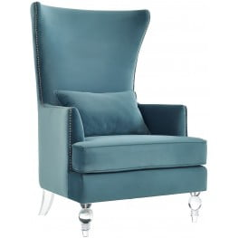 Bristol Sea Blue Velvet Chair