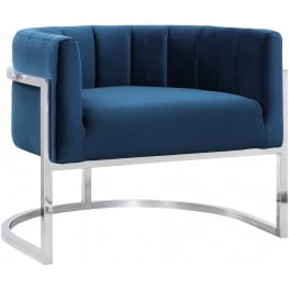 Magnolia Navy and Silver Chair