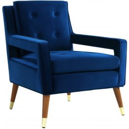 Draper Navy Velvet Chair
