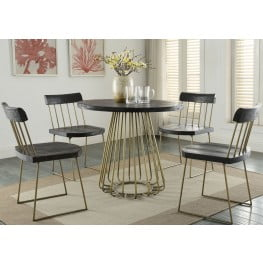 Madrid Pine Round Dining Room Set