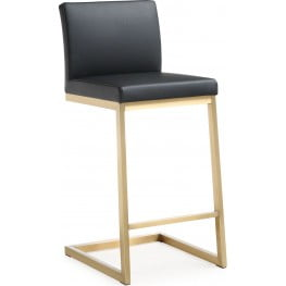 Parma Black Gold Steel Counter Stool Set of 2