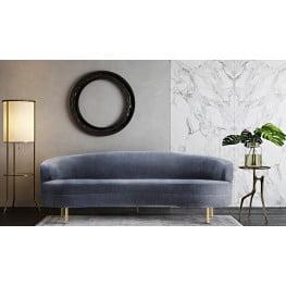 Baila Gray Velvet Sofa