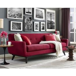 James Red Linen Living Room Set