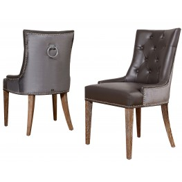 Uptown Leather/Velvet Dining Chair