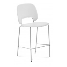 Traffic White Lacquered Steel White Frame Stacking Chair