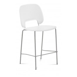 Traffic White Lacquered Steel Sand Frame Stacking Chair