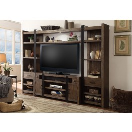 Tribeca Weathered Pine 4 Piece Entertainment Wall
