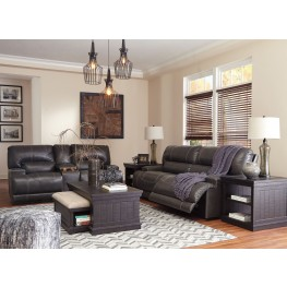 McCaskill Gray Reclining Power Living Room Set