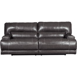 McCaskill Gray 2 Seat Power Reclining Sofa
