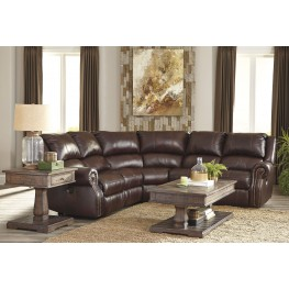 Collinsville Chestnut Power Reclining Sectional