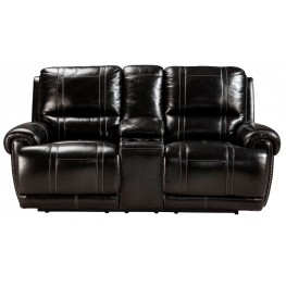 Paron Antique Double Power Reclining Loveseat With Console