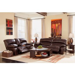 Damacio Dark Brown Power Reclining Living Room Set