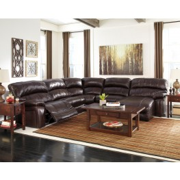 Damacio Dark Brown RAF Power Reclining Sectional