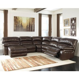Damacio Dark Brown LAF Power Reclining Sectional