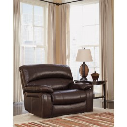 Damacio Dark Brown Zero Wall Power Wide Recliner