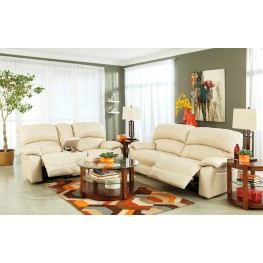 Damacio Cream Reclining Living Room Set