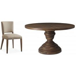 Crawford Sepia Round Dining Room Set