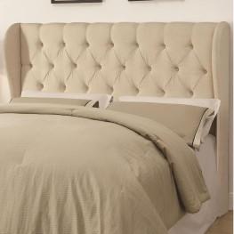 Murrieta Beige Upholstered Full/Queen Tufted Headboard