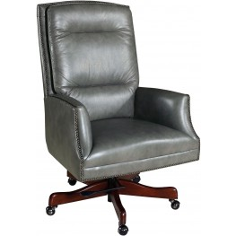 Garrett Gray Leather Executive Swivel Tilt Chair