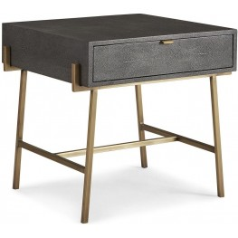 Viceroy Shagreen and Gun Metal End Table