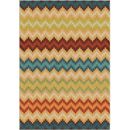 Spoleto Bright Color Chevron Candy Chevron Multi Large Area Rug