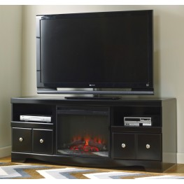 Shay LG TV Stand With Glass/Stone Fireplace Insert