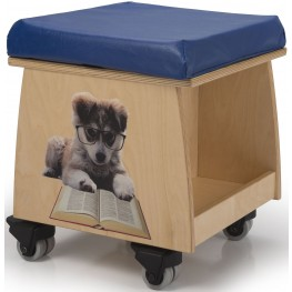Book Lovers Teacher Stool with Image