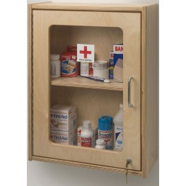 Lockable Medicine/First Aid Wall Cabinet