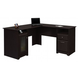 "Cabot Espresso Oak 60"" L-Desk"