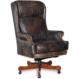 Tucker Brown Leather Executive Swivel Tilt Chair
