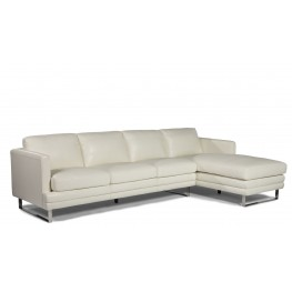 Melbourne White RAF Leather Sectional
