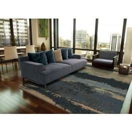 "Wild Weave Canyon Steel Blue Medium 90"" Rug"