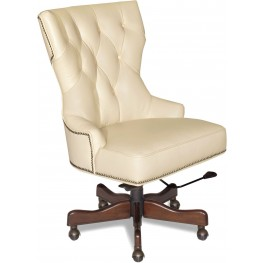Primm Beige Leather Desk Chair