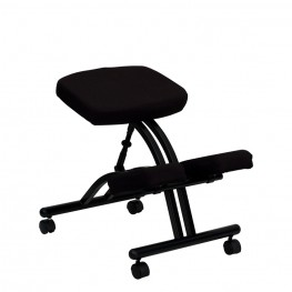 Black Fabric Mobile Ergonomic Kneeling Chair (Min Order Qty Required)