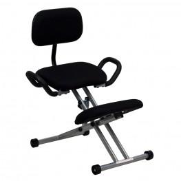 Ergonomic Kneeling Handles in Black Chair