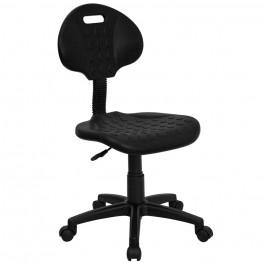 Tuff Butt Black Polypropylene Utility Task Chair