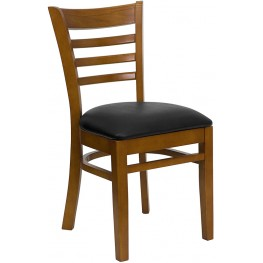 6580 Hercules Cherry Finished Ladder Back Wooden Restaurant Chair