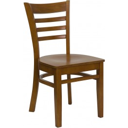 6582 Hercules Cherry Finished Ladder Back Wooden Restaurant Chair