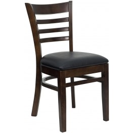 6589 Hercules Walnut Finished Ladder Back Wooden Restaurant Chair