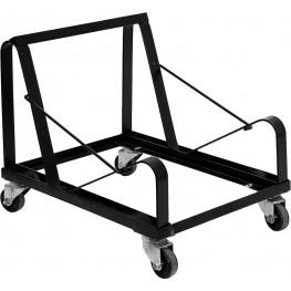 Hercules Black Steel Sled Base Stack Chair Dolly