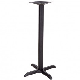 22'' x 22'' Restaurant Table X-Base with 3'' Bar Height Column