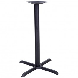 30'' x 30'' Restaurant Table X-Base with 3'' Bar Height Column