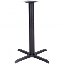 33'' x 33'' Restaurant Table X-Base with 4'' Bar Height Column