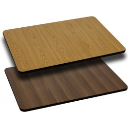 24x42 Rectangular Table Top With Natural/Walnut Reversible Laminate Top