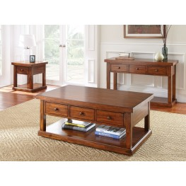 Zappa Medium Cherry Occasional Table Set