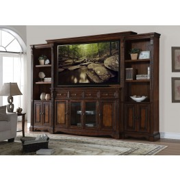 Parliament Brown Entertainment Wall Unit