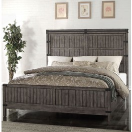 Storehouse Gray Queen Panel Bed