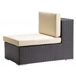 Cartagena Middle (Espresso weave, beige cushion)