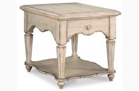 Belmar Antique Linen Drawer End Table