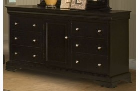 Belle Rose Black Cherry 6 Drawer Dresser